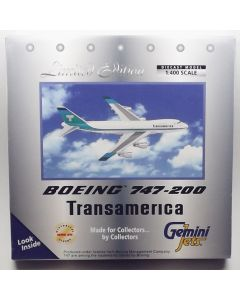 GeminiJets GJTVA226 Transamerica Airlines 747-271CSCD 1/400 Scale Diecast Model