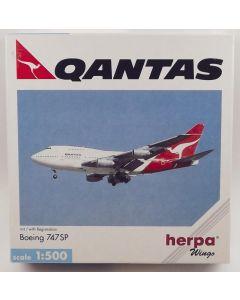 Herpa Wings 511582 Qantas Airways B 747SP-38 1/500 Scale Diecast Model
