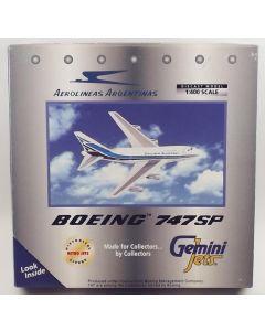GeminiJets GJARG055 Aerolineas Argentinas Boeing 747SP-27 1/400 Scale Model
