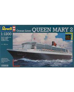Revell 5808 British Ocean Liner Queen Mary II 1/1200 Scale Plastic Model Kit