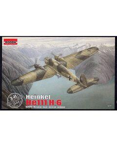 Roden 341 WWII German Heinkel He111H-6 1/144 Scale Plastic Model Kit