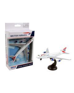 British Airways Boeing 747 Airliner Toy Airplane Diecast with Plastic Parts