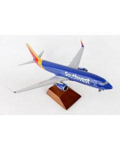 SkyMarks 8250 Southwest 737-800 with Gear & Wood Stand 'HeartOne' 1/100 Scale