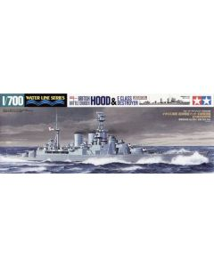 Tamiya 31806 British Battlecruiser Hood & E Class Destroyer 1/700 Scale Kits