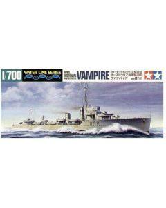 Tamiya 31910 Australian Destroyer Vampire 1/700 Scale Plastic Model Kit