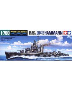 Tamiya 31911 US Destroyer Hammann 1/700 Scale Plastic Model Kit