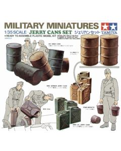 Tamiya 35026 Oil Drums & Jerry Cans 1/35 Scale Model Kit Diorama Accessory