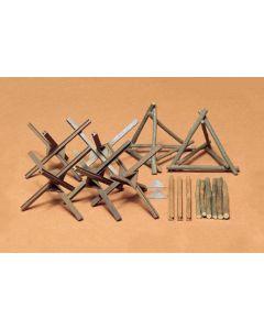 Tamiya 35027 Barricade Set 1/35 Scale Model Kit for Dioramas