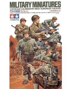 Tamiya 35048 US Army Infantry West European Theater 1/35 Scale Model Figures Kit