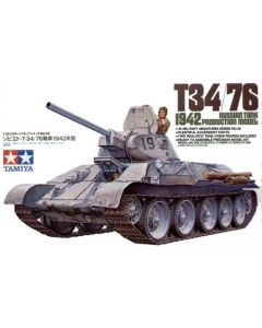 Tamiya 35049 WWII Soviet T34/76 Model 1942 Tank 1/35 Scale Plastic Model Kit