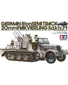 Tamiya 35050 Sd.Kfz.7/1 Halftrack & Quad 20 mm Flak 1/35 Scale Plastic Model Kit