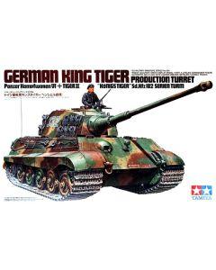 Tamiya 35164 WWII German King Tiger Tank Production Turret 1/35 Scale Model Kit