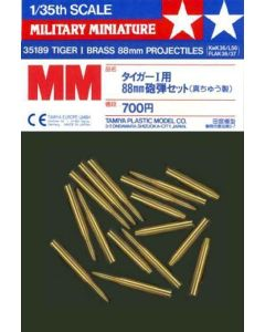 Tamiya 35189 Tiger I Brass 88 mm Projectiles for 1/35 Scale Plastic Model Kits