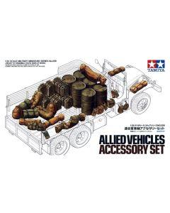 Tamiya 35229 WWII Allied Vehicles Accessory Set 1/35 Scale Plastic Model Kit