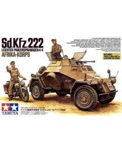 Tamiya 35286 Sd.Kfz. 222 DAK 1/35 Scale Model Kit with PE & Metal Barrel