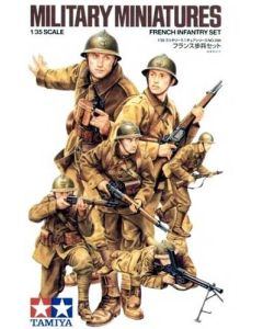 Tamiya 35288 WWII French Infantry 1/35 Scale Plastic Model Figures