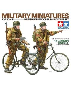 Tamiya 35333 WWII British Paratroopers & Bicycles 1/35 Scale Model Figures