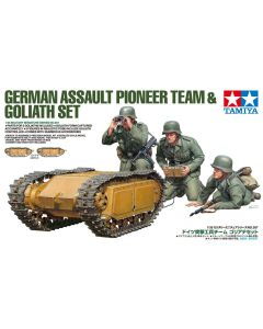 Tamiya 35357 WWII German Assault Pioneer Team & Goliath 1/35 Scale Model Figures
