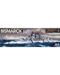 Tamiya 78013 German Battleship Bismarck 1/350 Scale Plastic Model Kit