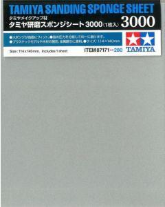 Tamiya 87171 Sanding Sponge Sheet 3000 Grit