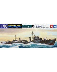 Tamiya 31428 Japanese Destroyer Matsu 1/700 Scale Plastic Model Kit
