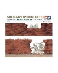 Tamiya 35028 Brick Wall Set 1/35 Scale Plastic Model Kit for Dioramas