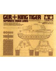 Tamiya 35165 WWII German King Tiger Track Link Set for 1/35 Scale Models