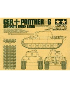 Tamiya 35171 WWII German Panther G Track Link Set for 1/35 Scale Models