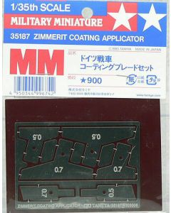 Tamiya 35187 Zimmerit Coating Photo-Etched Applicator for 1/35 Scale Kits