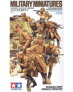 Tamiya 35207 WWII Russian Assault Infantry 1/35 Scale Plastic Model Figures