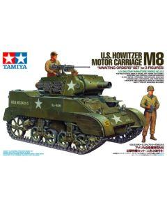 Tamiya 35312 M8 Howitzer Motor Carriage 'Awaiting Orders' 1/35 Scale Model Kit