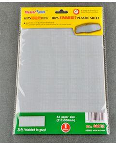 Trumpeter 9972 Zimmerit Plastic Sheet 8.27 in X 11.8 in (210 mm X 300 mm)