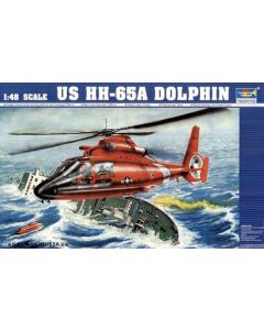 Trumpeter 2801 HH65A Dolphin US Coast Guard Rescue 1/48 Scale Plastic Model Kit