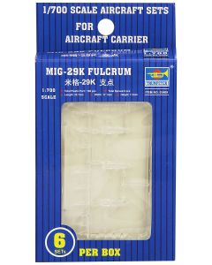 Trumpeter 3409 MiG-29K Fulcrum Aircraft Set for 1/700 Scale Model Ships