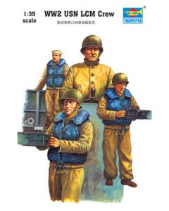 Trumpeter 408 WWII US Navy LCM Crew 1/35 Scale Plastic Model Figures