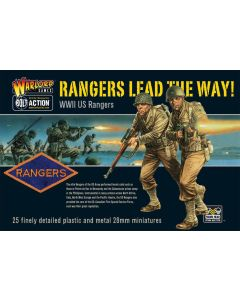 Bolt Action 'Rangers Lead The Way' Multipose Hard Plastic 28 mm Miniatures