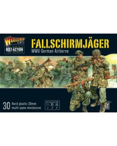 Bolt Action Fallschirmjager Multipose Hard Plastic 28 mm Miniatures