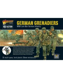 Bolt Action German Grenadiers Multipose Hard Plastic 28 mm Miniatures
