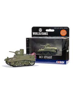 Corgi World of Tanks 91209 US M3 Stuart Tank Diecast Model