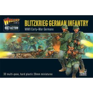 Bolt Action Blitzkrieg! German Infantry Hard Plastic 28 mm Miniatures