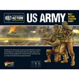 Bolt Action US Starter Army Multipose Hard Plastic 28 mm Miniatures