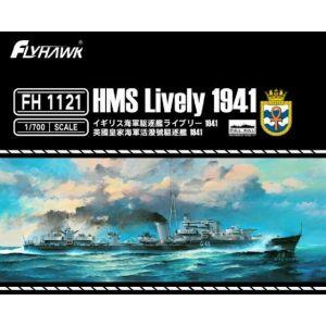 Flyhawk FH1121 British Destroyer Lively 1941 1/700 Scale Plastic Model Kit