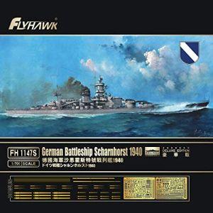 Flyhawk FH1147S German Battleship Scharnhorst 1940 1/700 Scale Plastic Model Kit