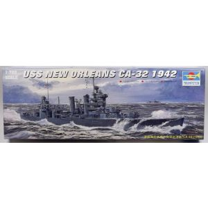 Trumpeter 5742 US Heavy Cruiser New Orleans 1942 1/700 Scale Model Kit Started