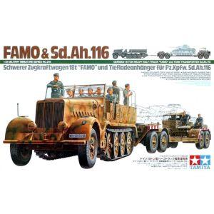 Tamiya 35246 FAMO Half-Track & Sd.Ah.116 Tank Transporter 1/35 Scale Model Kit