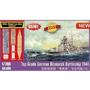 Trumpeter 65701 German Battleship Bismarck 'Top Grade' 1/700 Scale Model Kit