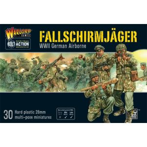 Bolt Action Fallschirmjager Multipose Hard Plastic 28 mm Miniatures