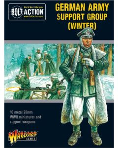 Bolt Action German Army Support Group Winter Multipose Plastic 28 mm Miniatures