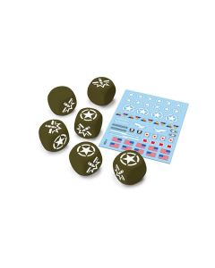 Battlefront WOT11 U.S.A. Dice and Decals for World of Tanks Miniatures Game