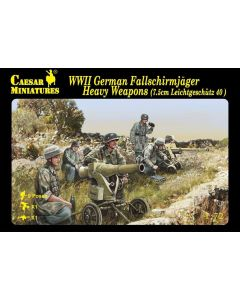 Caesar Miniatures H98 WWII German Fallschirmjager with Heavy Weapons 1/72 Scale